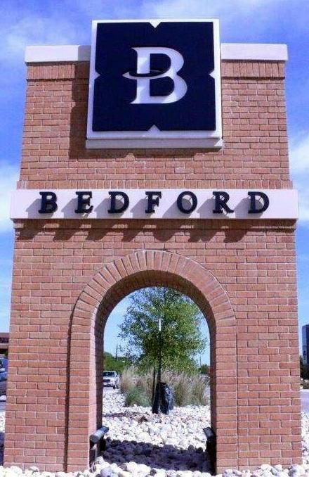 Bedford Monument Sign
