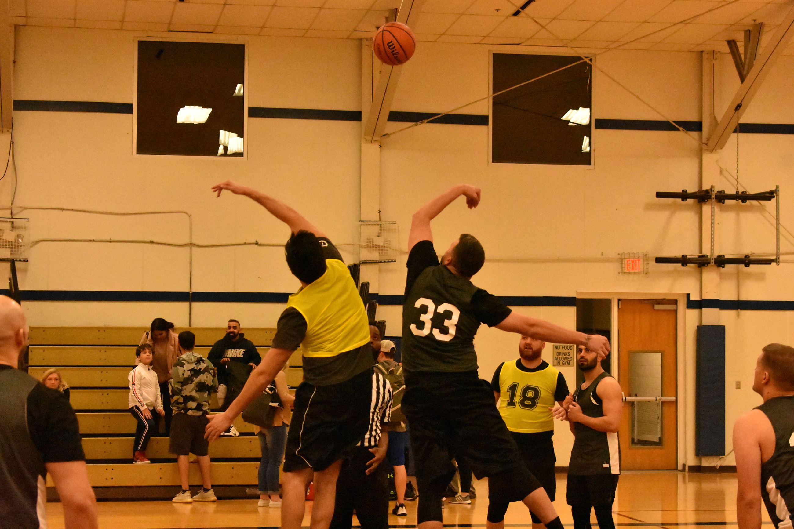 Game Two Tip Off - Bedford Adult Basketball League