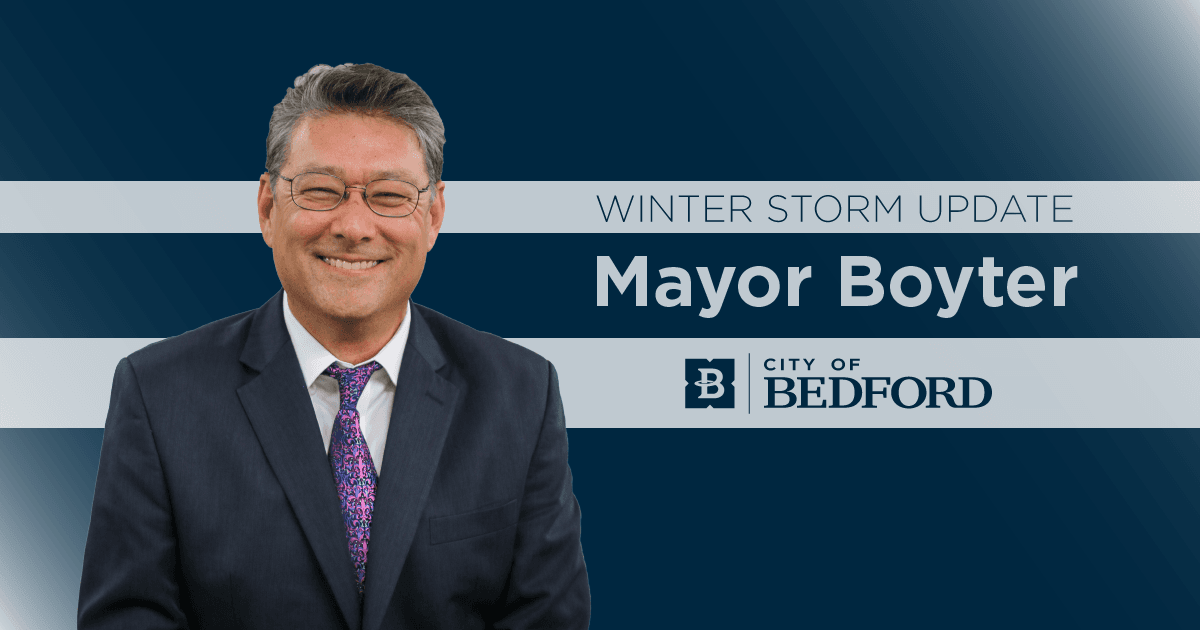 Winter Storm Update from Mayor Boyter