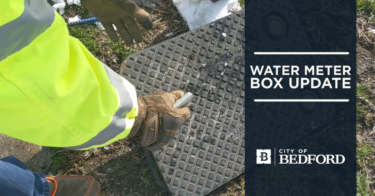 Water Meter Box Being Unlocked